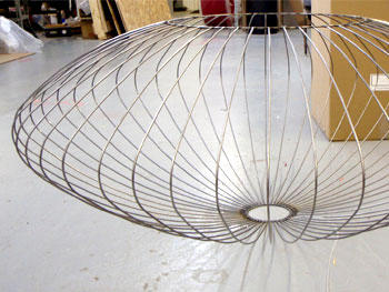 Lampshade custom wire form lampshade rings greentooth Images